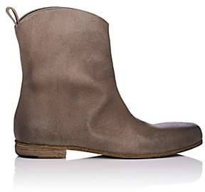 Marsèll Women's Distressed Leather Ankle Boots - Beige, Tan