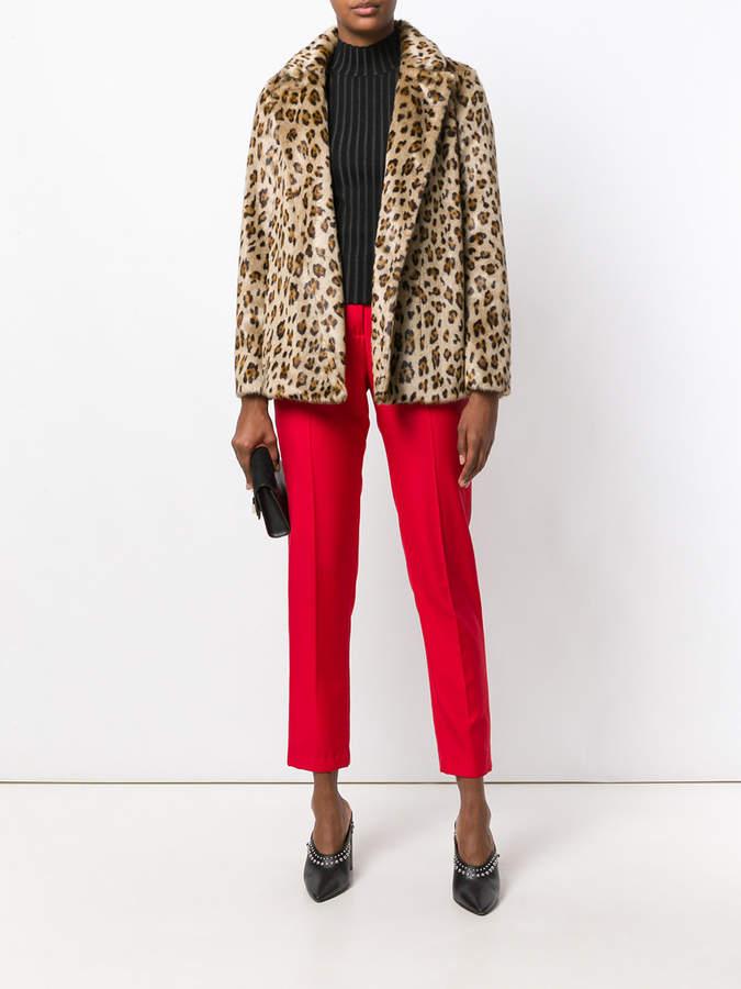 Theory leopard print a-line jacket