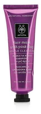 Apivita NEW Face Mask with Pink Clay - Gentle Cleansing 50ml Womens Skin Care