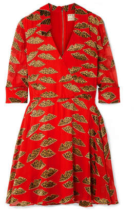 Alice + Olivia Alice Olivia - Catina Wrap-effect Devoré-chiffon Mini Dress - Red
