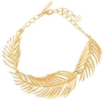 Oscar de la Renta palm leaf choker necklace