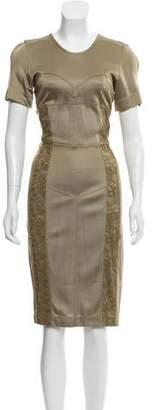 Burberry Lace-Trimmed Midi Dress