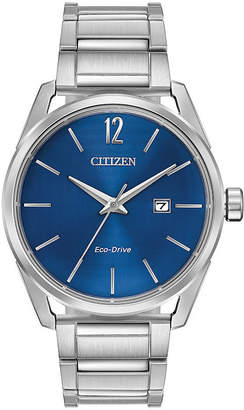 DRIVE FROM CITIZEN ECO-DRIVE Drive from Citizen Mens Silver Tone Bracelet Watch-Bm7410-51l