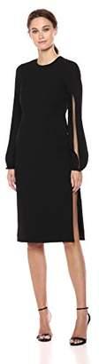 Jill Stuart Women's Sheath Dress with Sleeve Detail