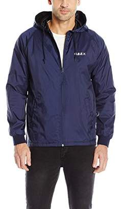 Obey Men's Coaches Hooded Jacket