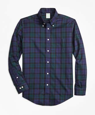 Brooks Brothers Non-Iron Milano Fit Black Watch Tartan Sport Shirt