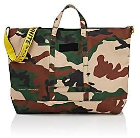 Off-White Men's Canvas Tote Bag-Green