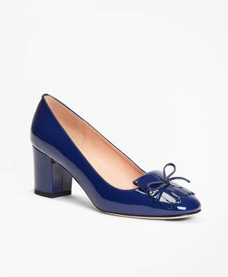Brooks Brothers Patent Leather Kiltie Loafer Pumps