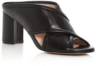 Stuart Weitzman Women's Sam Crisscross High-Heel Slide Sandals