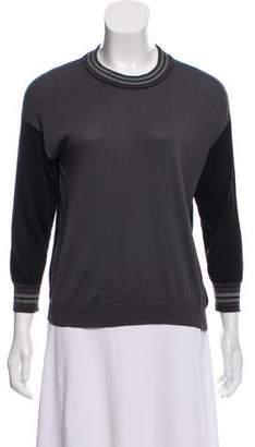 Prada Silk Crew Neck Sweater