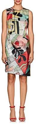 Giorgio Armani Women's Abstract-Print Organza Dress