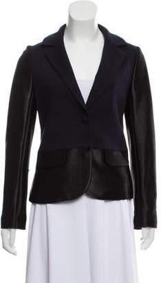 Tory Burch Woven Button-Up Blazer