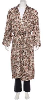 Dolce & Gabbana Silk Card Print Robe w/ Tags