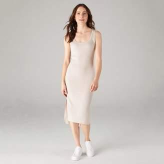 Naadam Tank Dress with Side Slits Pebble