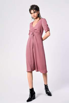 Glamorous Womens **Ruched Front Dress By Petites - Pink