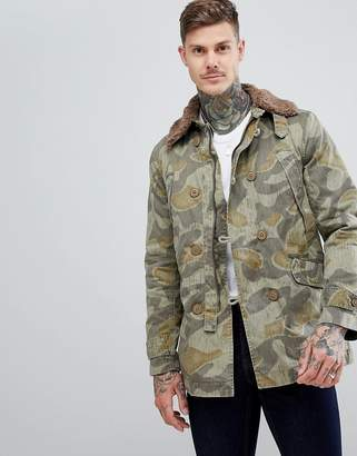 Pretty Green Parbrook Camo Jacket
