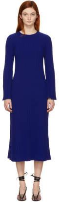 Simon Miller Blue Stretch Wide Rib Wells Dress