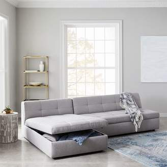 west elm Plateau 2-Piece Storage Chaise Sectional