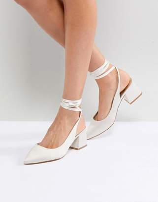 Asos DESIGN SWEETHEART Bridal Pointed Heels