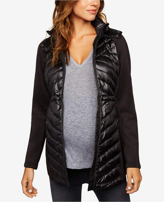 A Pea in the Pod Maternity Quilted-Panel Jacket