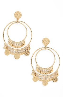 Women's Kate Spade New York Flip A Coin Statement Earrings $128 thestylecure.com