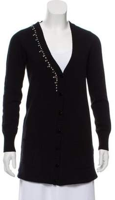 Blugirl Virgin Wool-Blend V-Neck Cardigan Black Virgin Wool-Blend V-Neck Cardigan
