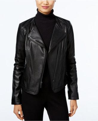 MICHAEL Michael Kors Leather Moto Jacket $380 thestylecure.com
