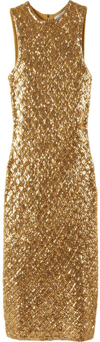 Michael Kors Embellished cashmere dress