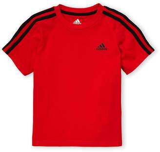 adidas Boys 4-7) 3-Stripe Short Sleeve Tee