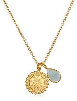 Satya Jewelry Womens Mandala Garnet Birthstone Pendant Necklace 16-Inch +2-Inch Extension