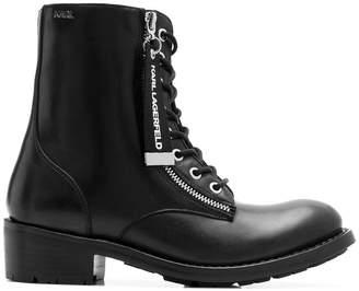 Karl Lagerfeld Biker Hi Lace boots