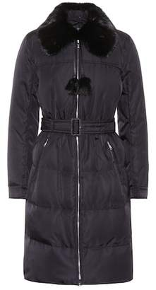 Prada Fur-trimmed coat