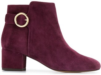 Tila March buckle-detail ankle boots