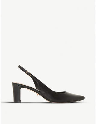 Dune Conde slingback leather court shoes