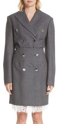 Calvin Klein Curved Sleeve Wool Blazer
