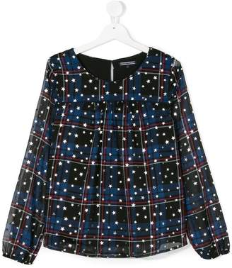Tommy Hilfiger Junior plaid stars print blouse
