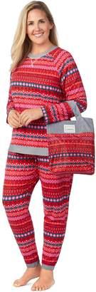 Cuddl Duds Plus Size Pajamas-in-a-Bag Pajama Set