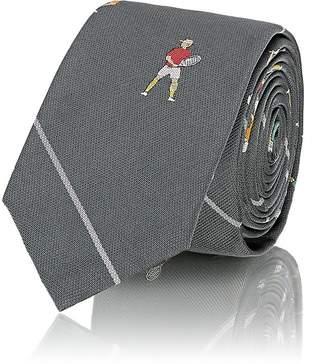 Thom Browne Men's Tennis-Player Striped Silk Repp Necktie
