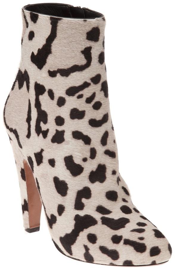 Alaia Vault printed calf low boot