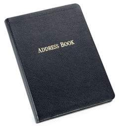 Graphic Image Leather-Bound Address Book