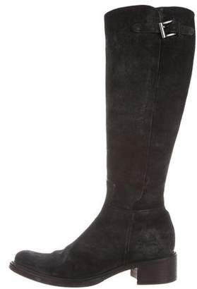 Roberto Del Carlo Suede Knee-High Boots