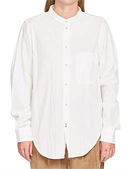 Bassike Lightwght Twill Utility Shirt