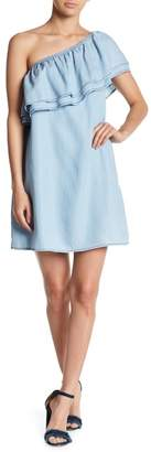 BB Dakota One Shoulder Denim Style Dress