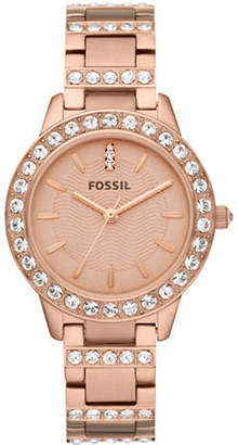 Fossil Jesse Three Hand Stainless Steel Watch Rose