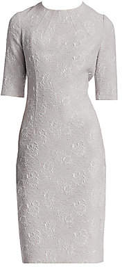 Teri Jon by Rickie Freeman by Rickie Freeman Women's Floral Jacquard Dress
