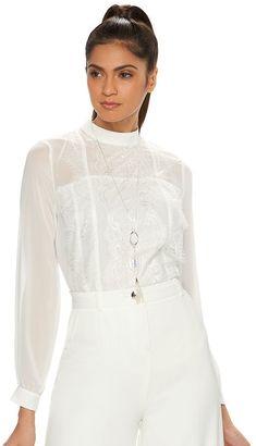 Women's Jennifer Lopez Lace Top $54 thestylecure.com