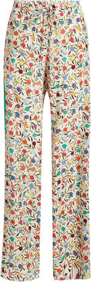 RED Valentino Printed Silk Pants