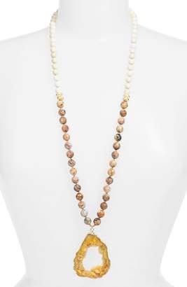 Love's Affect Cameron Semiprecious Stone Pendant Necklace