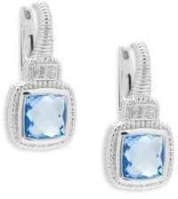 Judith Ripka Sapphire & Blue Quartz Drop Earrings