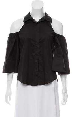 Alexis Cold-Shoulder Button-Up Top